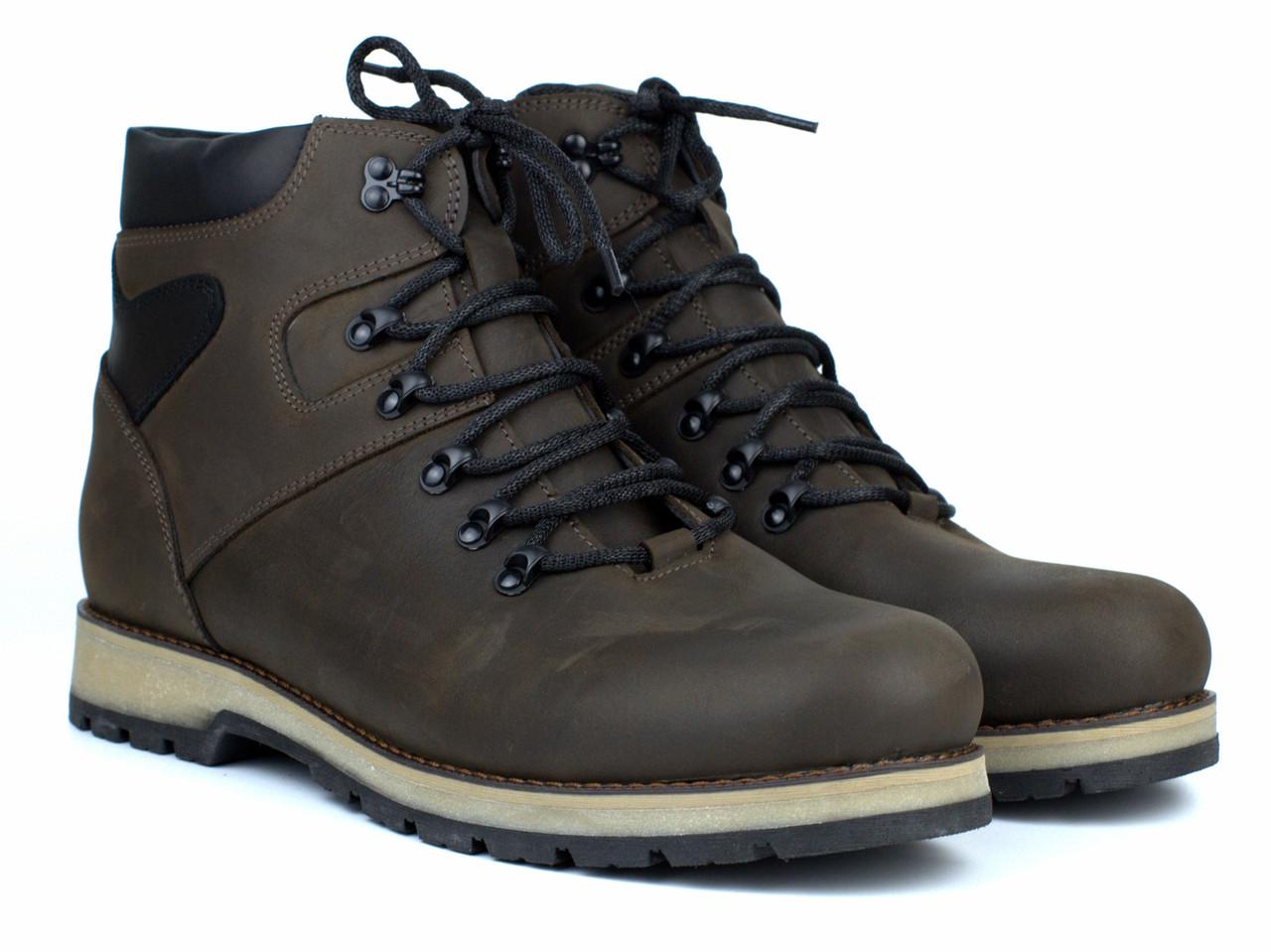 Коричневые ботинки кожаные зимняя мужская обувь больших размеров Rosso Avangard BS Indi Jone 21ST Brown