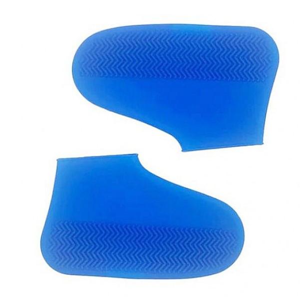 Силіконові чохли бахіли для взуття від дощу і бруду розмір L 42-45 розмір колір сині