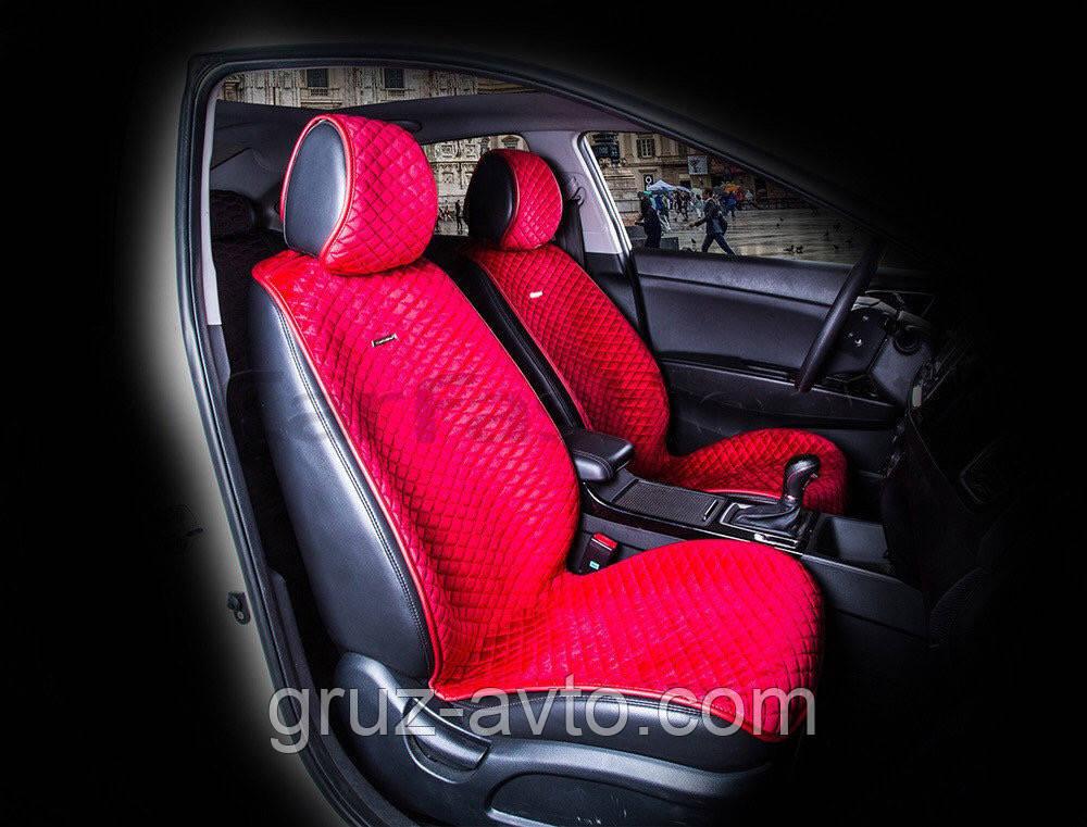 Накидки на сидения CarFashion Мoдель: CITY  Красный- красный   (21458)