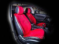Накидки на сидения CarFashion Мoдель: CITY  Красный- красный   (21458), фото 1