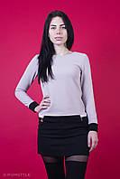Сукня з фактурного трикотажу бежева з чорним (Платье из фактурного трикотажа бежевое с черным), фото 1