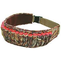 Патронташ неопрен Allen Shell Belt,  для 25 гладкост. патронов, цвет: Shadow Grass