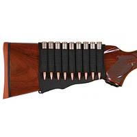 Патронташ на приклад Allen Rifle Cartridge Holder для 9 нарезных патронов, чёрный