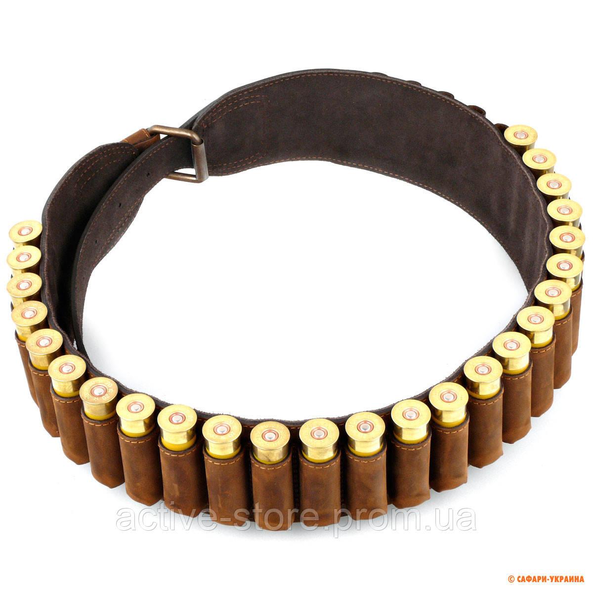 Патронташ для ружья 20 калибра Artipel, кожаный, на 30 патронов - Active-Store — товары для активных людей в Киеве