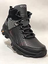 41,43,44 р. Чоловічі зимові черевики, кросівки з натуральної шкіри на хутрі Чорні
