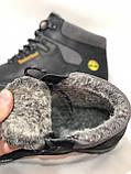 41,43,44 р  Зимние ботинки кожаные, мужские ботинки на меху Черные супер качество, фото 8