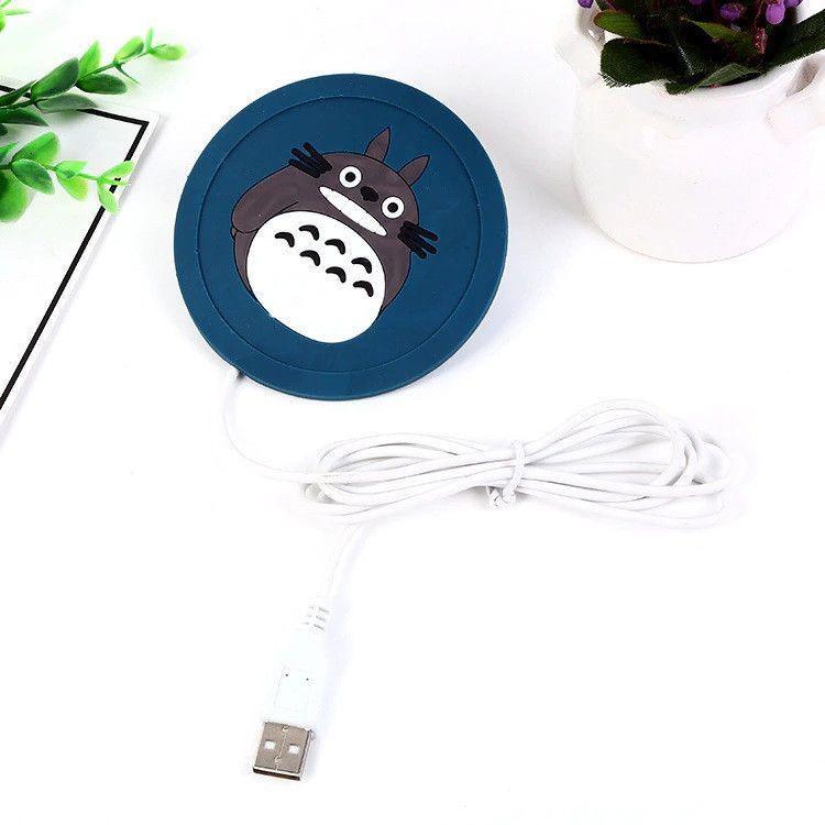 Силіконова USB підставка для чашки з підігрівом Coaster Pad (під чашку кухоль) Chinchilla синя