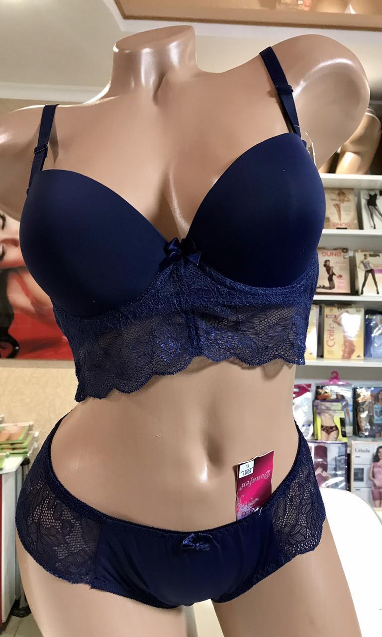 Комплекты нижнего женского белья Donafen Синий 80С
