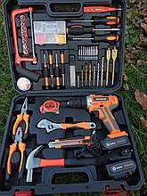 Мультифункциональный набор инструментов для монтажа с дрелью-шуруповертом 50 предметов. Haina