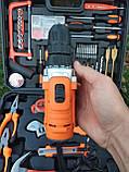 Мультифункциональный набор инструментов для монтажа с дрелью-шуруповертом 50 предметов. Haina, фото 4