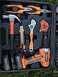 Мультифункциональный набор инструментов для монтажа с дрелью-шуруповертом 50 предметов. Haina, фото 5