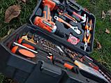 Мультифункциональный набор инструментов для монтажа с дрелью-шуруповертом 50 предметов. Haina, фото 7