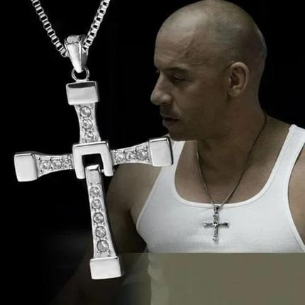 Хрест домініка торетто з ланцюжком, сріблястий, фото 2