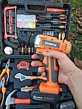 Мультифункциональный набор инструментов для монтажа с дрелью-шуруповертом 50 предметов. Haina, фото 8