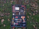 Мультифункциональный набор инструментов для монтажа с дрелью-шуруповертом 50 предметов. Haina, фото 9