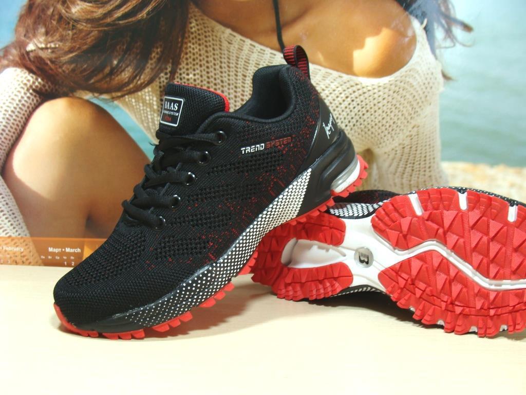 Кроссовки женские BaaS Marathon - 21 черно-красные 37 р.