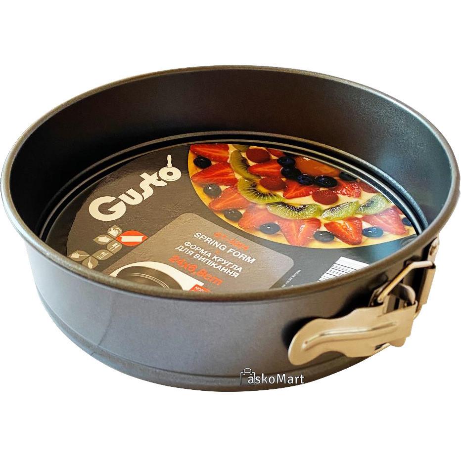 Форма круглая для выпекания 24x6,8 см, Gusto GT-3224 (100056)