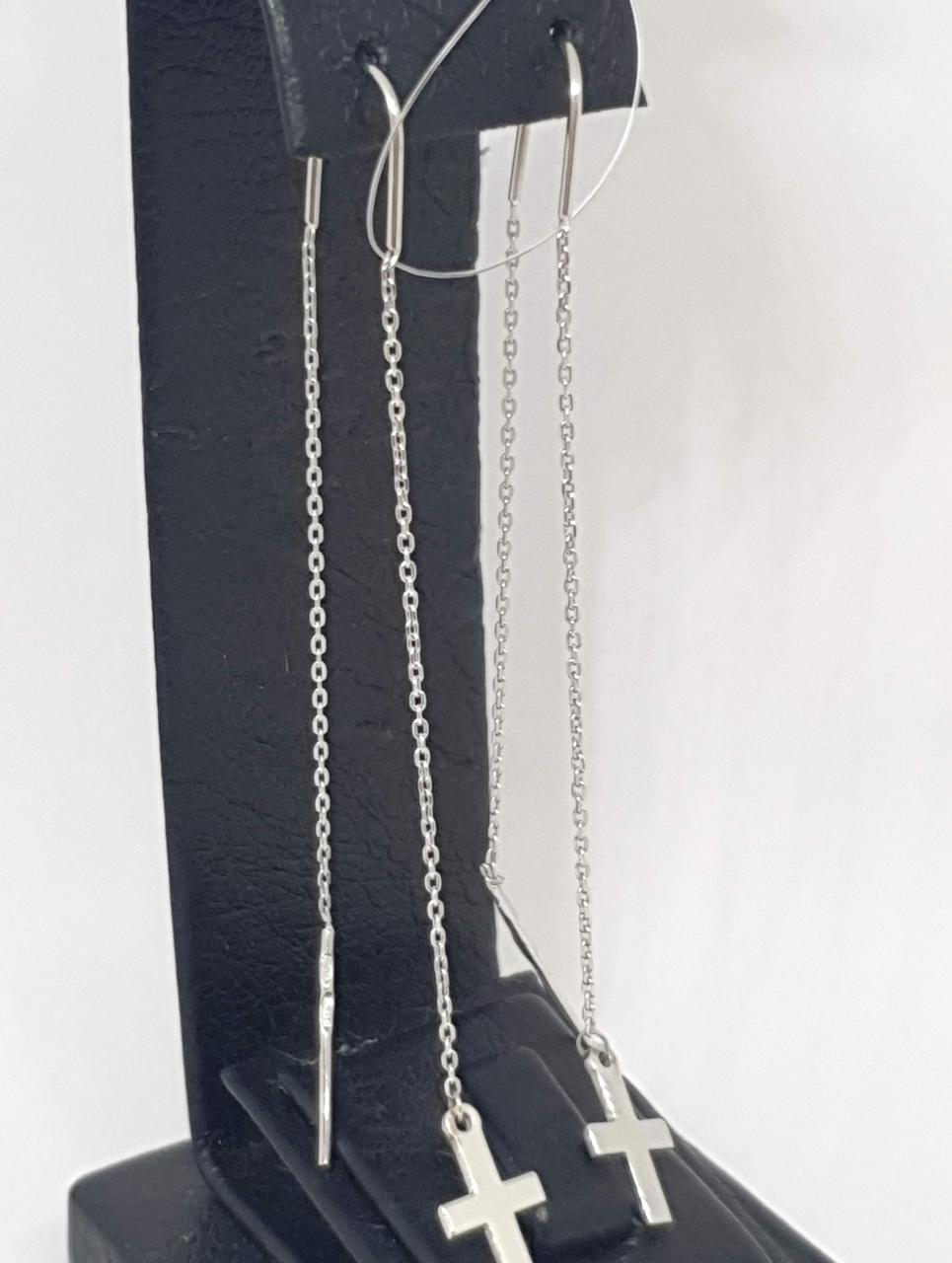 Серебряные серьги-протяжки. Артикул 90200812