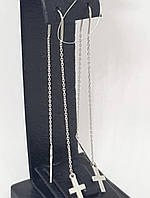 Серебряные серьги-протяжки. Артикул 90200812, фото 1