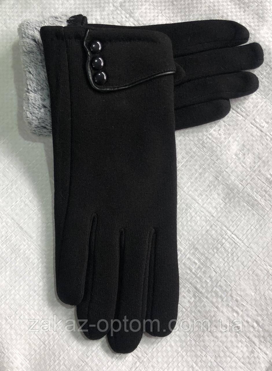 Перчатки женские оптом внутри флис Китай-63087