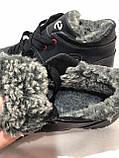 Чоловічі черевики, кросівки р. 41,42,43 шкіряні на хутрі чорні, фото 9