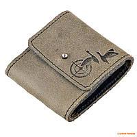 Подсумок кожаный на ремень Волмас,  для патронов 7,62, цвет: Оливковый