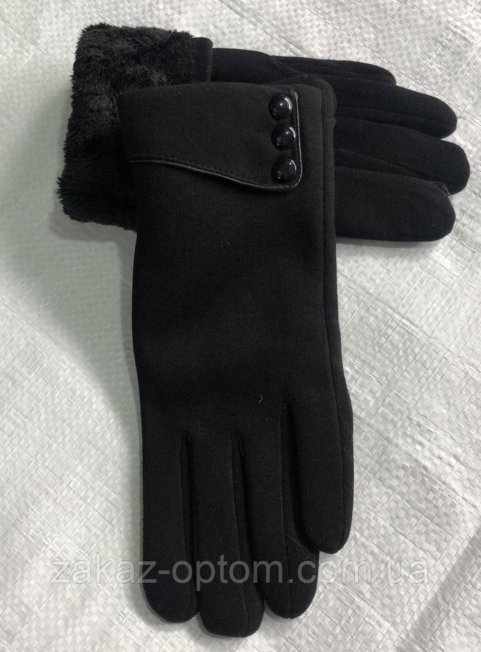 Перчатки женские оптом внутри флис Китай-63089