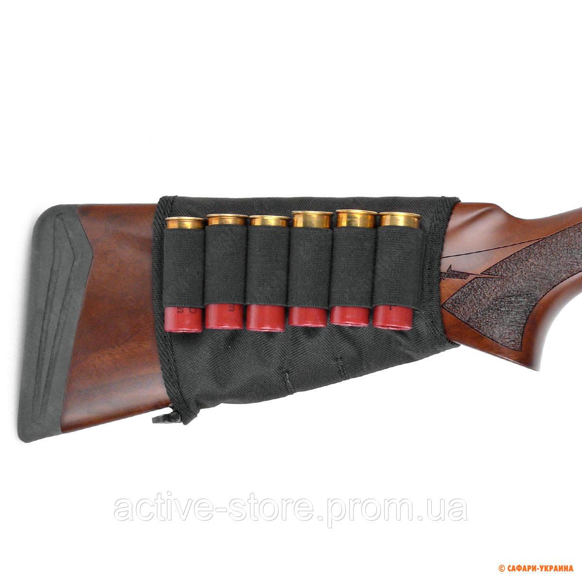 Патронташ на приклад Волмас, на 6 гладких патронов 12 калибра, на липучке - Active-Store — товары для активных людей в Киеве