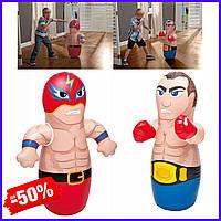 Детская надувная боксерская груша игрушка-неваляшка Intex 44672-1-2 Боксер и Борец фигура неваляшка 2 видов