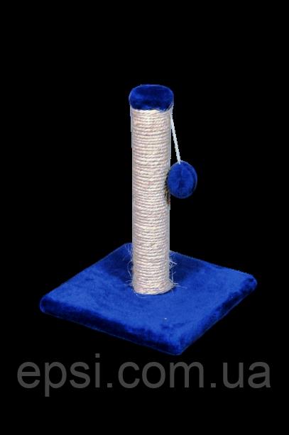 Когтеточка (дряпка) Малыш платф.30х30см, высота-42 см, сизаль, синяя