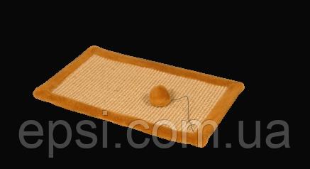 Когтеточка-коврик (дряпка) 52 см х 34 см сизаль, коричневый