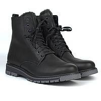 Шкіряні чорні зимові чоловічі черевики на хутрі Rosso Avangard Whisper 2 Modern Black