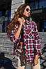 Модная рубашка в клетку, ткань:байка. Размер:  42-46. Разные цвета (124), фото 6
