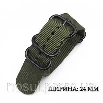 ZULU Military тканевый ремешок 24 мм оливковый зеленый для часов нейлон милитари Military военный