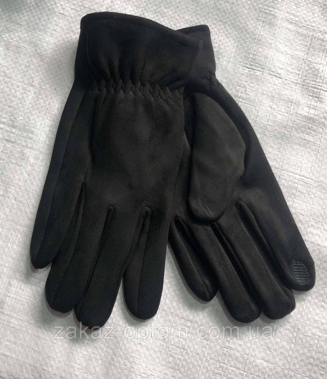 Перчатки мужские сенсор оптом внутри начес (10-12)Китай-63095