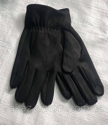 Перчатки мужские сенсор оптом внутри начес (10-12)Китай-63095, фото 2