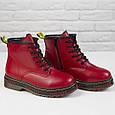 Стильные красивые удобные женские ботинки красные Женские ботинки на шнуровке зима Loretta размер 36 - 41, фото 3