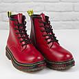 Стильные красивые удобные женские ботинки красные Женские ботинки на шнуровке зима Loretta размер 36 - 41, фото 4
