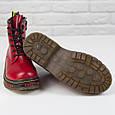 Стильные красивые удобные женские ботинки красные Женские ботинки на шнуровке зима Loretta размер 36 - 41, фото 5