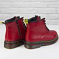 Стильные красивые удобные женские ботинки красные Женские ботинки на шнуровке зима Loretta размер 36 - 41, фото 6