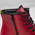 Стильные красивые удобные женские ботинки красные Женские ботинки на шнуровке зима Loretta размер 36 - 41, фото 7