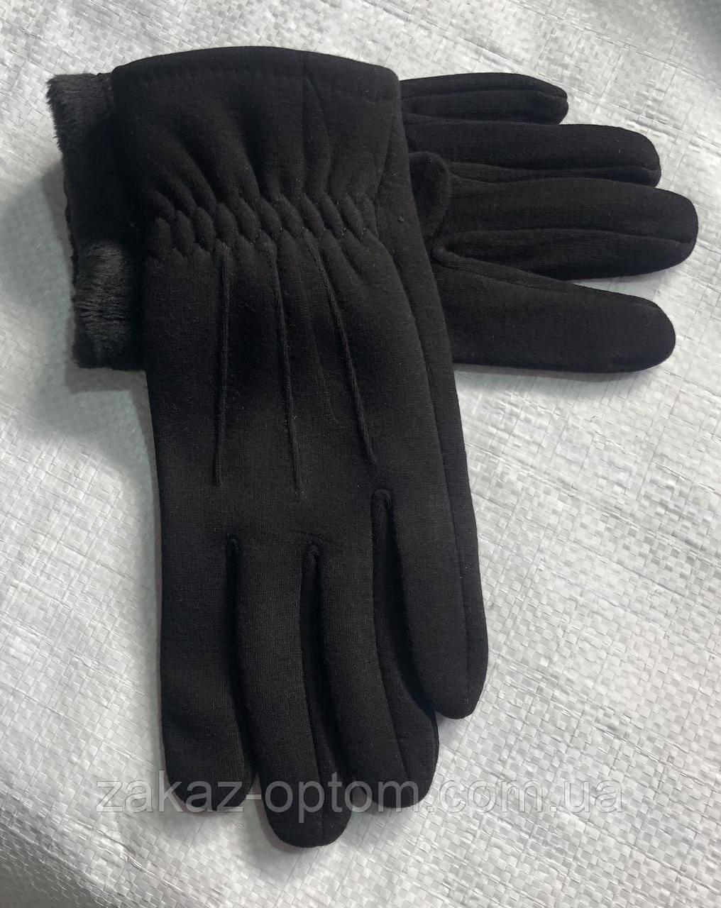 Перчатки мужские оптом внутри начес (10-12)Китай-63094