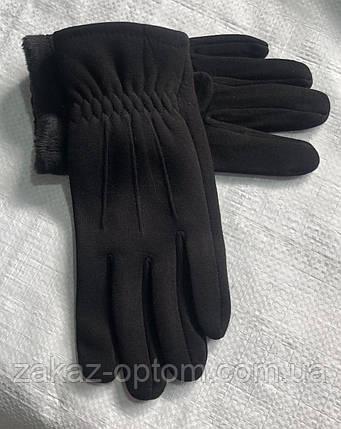 Перчатки мужские оптом внутри начес (10-12)Китай-63094, фото 2