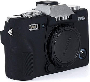 Захисний силіконовий чохол для фотокамери FujiFilm XT30 - чорний