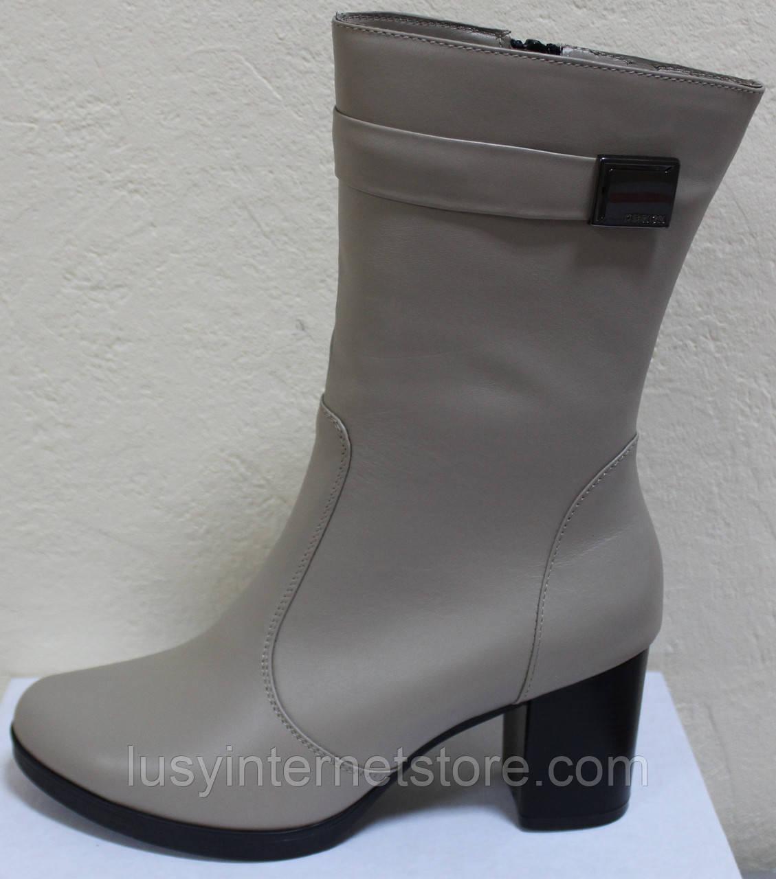 Полусапожки женские кожаные демисезонные на каблуке от производителя модель КС0187Р