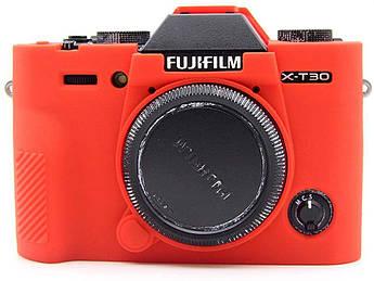 Захисний силіконовий чохол для фотокамери FujiFilm XT30 - червоний