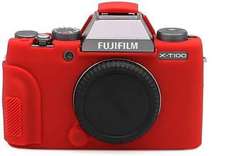 Захисний силіконовий чохол для фотокамери FujiFilm X-T100 - червоний
