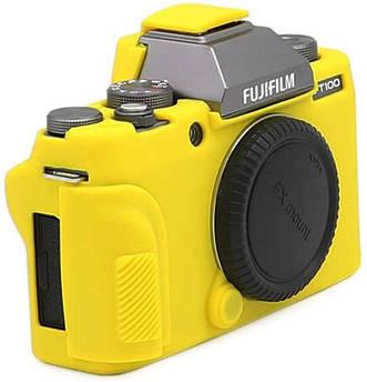 Захисний силіконовий чохол для фотокамери FujiFilm X-T100 - жовтий