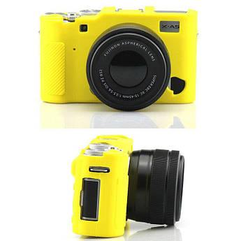Захисний силіконовий чохол для фотокамери FujiFilm X-A5, X-A10 - жовтий