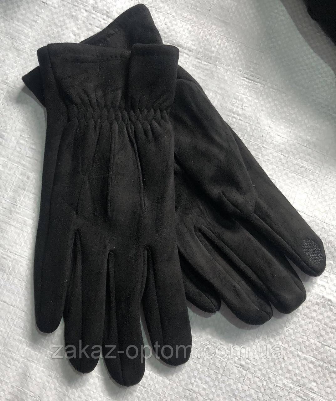 Перчатки мужские сенсор оптом внутри начес (10-12)Китай-63099